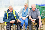 Tom McElligott, Ann Marie McGrath and Fr Denis O'Mahony enjoying a cup of tea at the Kilflynn Vintage Rally on Sunday.