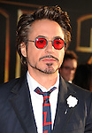 "HOLLYWOOD, CA. - April 26: Robert Downey Jr. arrives at the ""Iron Man 2"" World Premiere held at the El Capitan Theatre on April 26, 2010 in Hollywood, California."