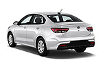 Car pictures of rear three quarter view of a 2018 KIA Rio S 4 Door Sedan angular rear