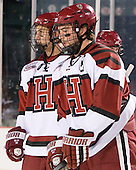 Danny Biega (Harvard - 9), Ryan Grimshaw (Harvard - 6) - The Union College Dutchmen defeated the Harvard University Crimson 2-0 on Friday, January 13, 2011, at Fenway Park in Boston, Massachusetts.