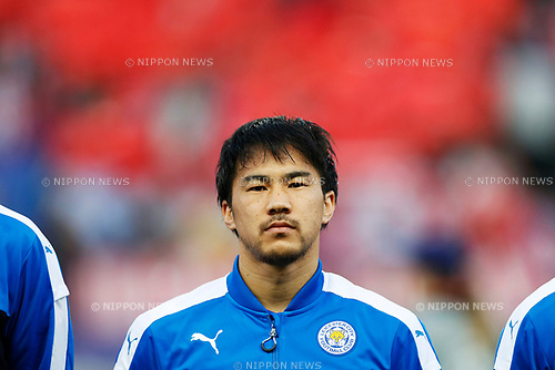 Shinji Okazaki (Leicester), APRIL 12, 2017 - Football / Soccer : UEFA Champions League Quarter-finals 1st leg match between Club Atletico de Madrid 1-0 Leicester City at Estadio Vicente Calderon in Madrid, Spain. (Photo by D.Nakashima/AFLO)