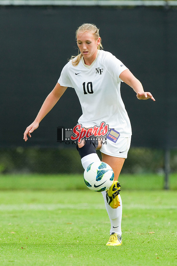 Kim Marshall (10) of the Wake Forest Demon Deacons in action against the Clemson Tigers at Spry Soccer Stadium on September 30, 2012 in Winston-Salem, North Carolina.  The Demon Deacons defeated the Tigers 4-0.  (Brian Westerholt/Sports On Film)