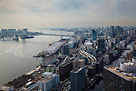 Tokyo, March 2012 - View over the city and the bay from the Hamamatsucho area.