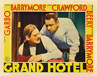 Grand Hotel (1932)<br /> Lobby card with Lionel Barrymore &amp; Wallace Beery<br /> *Filmstill - Editorial Use Only*<br /> CAP/MFS<br /> Image supplied by Capital Pictures