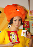 "November 20, 2016, Tokyo, Japan - Japanese actress Rena Nonen, now called Non, displays her designed character goods of ""Warui-chan"" at the launching ceremony in Tokyo on Sunday, November 20, 2016. Some 100 people queue up to buy her character goods at Tokyo's Kiddyland toy store.   (Photo by Yoshio Tsunoda/AFLO) LWX -ytd-"