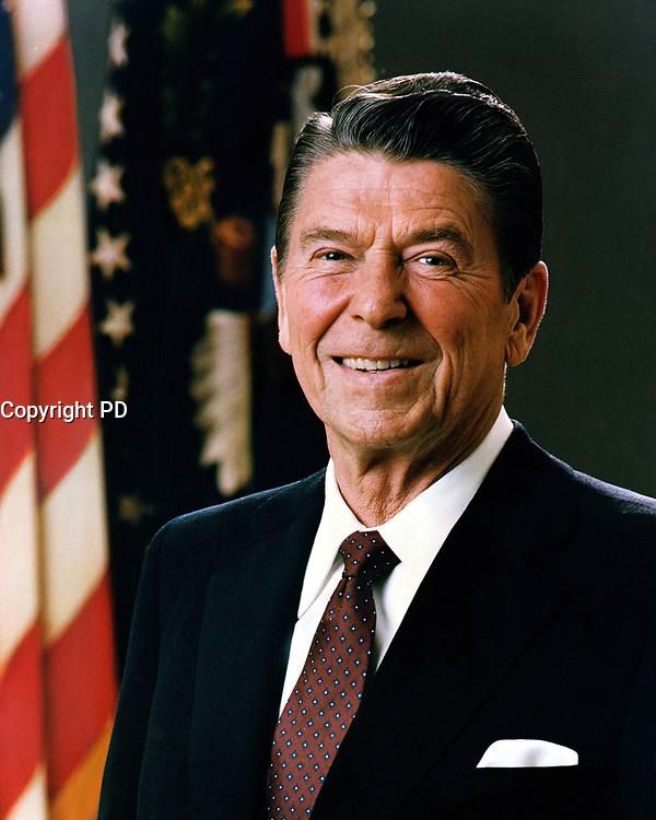 Official Portrait of President Ronald Reagan, 8 Apr 1983