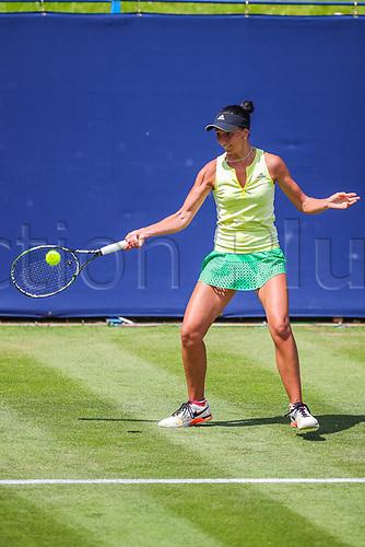 June 18th 2017, Edgbaston Priory Club; Tennis Tournament; Aegon Classic Birmingham; Sunday Qualifiers;  Aleksandrina Naydenova hits a forehand against Marketa Vondrousovs