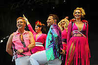 LONDON, ENGLAND - JULY 10: Ian &quot;H&quot; Watkins, Lisa Scott-Lee, Lee Latchford-Evans, Faye Tozer and Claire Richards of 'Steps' performing at Kew the Music, Kew Gardens on July 10, 2018 in London, England.<br /> CAP/MAR<br /> &copy;MAR/Capital Pictures