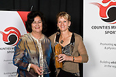 Coach of the Year winner Kirsten Hellier with Waina Emery from Wiri Licensing Trust. Counties Manukau Sport 17th annual Sporting Excellence Awards held at the Telstra Clear Pacific Events Centre, Manukau City, on November 27th 2008.