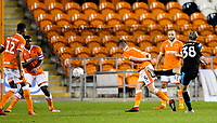West Bromwich Albion U21's Alex Bradley scores the winner<br /> <br /> Photographer Alex Dodd/CameraSport<br /> <br /> The EFL Checkatrade Trophy Northern Group C - Blackpool v West Bromwich Albion U21 - Tuesday 9th October 2018 - Bloomfield Road - Blackpool<br />  <br /> World Copyright &copy; 2018 CameraSport. All rights reserved. 43 Linden Ave. Countesthorpe. Leicester. England. LE8 5PG - Tel: +44 (0) 116 277 4147 - admin@camerasport.com - www.camerasport.com