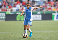 Portland, OR - Saturday August 19, 2017: Poliana Barbosa Medeiros during a regular season National Women's Soccer League (NWSL) match between the Portland Thorns FC and the Houston Dash at Providence Park.