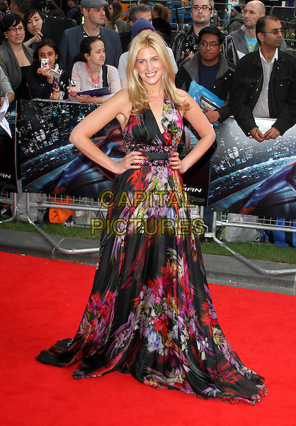Francesca 'Cheska' Hull.UK Premiere of 'The Amazing Spider-Man' at the Odeon, Leicester Square, London, England..June 18th 2012.full length black white purple pink floral print dress sleeveless hands on hips.CAP/ROS.©Steve Ross/Capital Pictures.