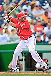 25 September 2010: Washington Nationals infielder Michael Morse in action against the Atlanta Braves at Nationals Park in Washington, DC. The Braves shut out the Nationals 5-0 to even their 3-game series at one win apiece. The Braves' victory was the 2500th career win for skipper Bobby Cox. Cox will retire at the end of the 2010 season, crowning a 29-year managerial career. Mandatory Credit: Ed Wolfstein Photo