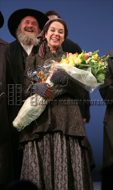 Alexandra Silber during the Broadway Opening Night Performance Curtain Call bows for 'Fiddler On The Roof'  at the Broadway Theatre on December 20, 2015 in New York City.