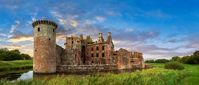 Exterior of Caerlaverock Castle, Dumfries Galloway, Scotland, Exterior of Caerlaverock Castle, Dumfries Galloway, Scotland,