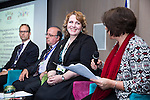 "BRUSSELS - BELGIUM - 24 November 2016 -- European Training Foundation (ETF) Conference on ""GETTING ORGANISED FOR BETTER QUALIFICATIONS"" - Panel discussion: Making QFs work globally. -- Koen Nomden, Team Leader - Skills and qualifications recognition tools - DG Employment  Social Affairs and Inclusion; Loukas Zahilas, Head of Department - European Centre for the Development of Vocational Training (CEDEFOP), Department for VET Systems and VET Institutions; Helene Skikos, Policy Officer - DG Education and Culture; Moderator Anastasia Fetsi, Head of Operations Department ETF. -- PHOTO: Juha ROININEN / EUP-IMAGES"