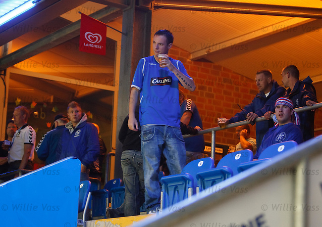 Disgruntled Rangers fans can not believe the match has been cancelled due to rain after making the trip to Germany