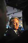 Fisker CEO Henrik Fisker speaks with the media after the unveiling of the luxury electric Karma set for production next year in California at the Detroit Auto Show in Detroit, Michigan on January 12, 2009.