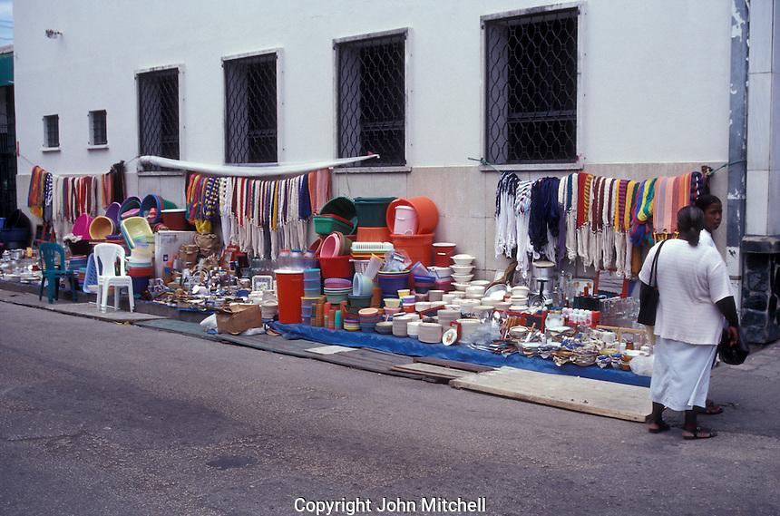 Street market  in Belize City, Belize
