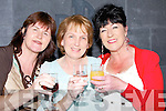 Christine Costello,Sheila Fealy and Bernadett McGrath who toasted to the 50th Anniversary of their past school Killahan NS on Sunday at the school marks it 50th Anniversary, in Ballyroe Hotel Tralee.