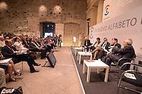 """Roma, 25 Maggio 2012.Convegnoi nazionale organizzato dal partito democratico sulla scuola e le nuove tecnologie..""""Un nuovo alfabeto per l'Italia"""".Conferenza per la scuola dei nativi digitali."""