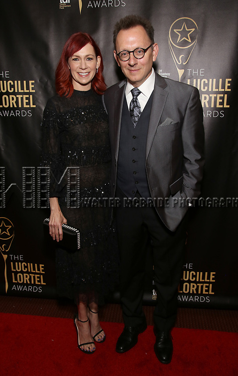 Carrie Preston and Michael Emerson  attends 32nd Annual Lucille Lortel Awards at NYU Skirball Center on May 7, 2017 in New York City.