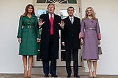 United States President Donald J. Trump and First Lady Melania Trump pose for a photo with the Prime Minister of the Czech Republic Andrej Babiö and his wife Monika Babiöov· as they arrive at the White House in Washington, D.C. on March 7, 2019. <br /> Credit: Alex Edelman / Pool via CNP