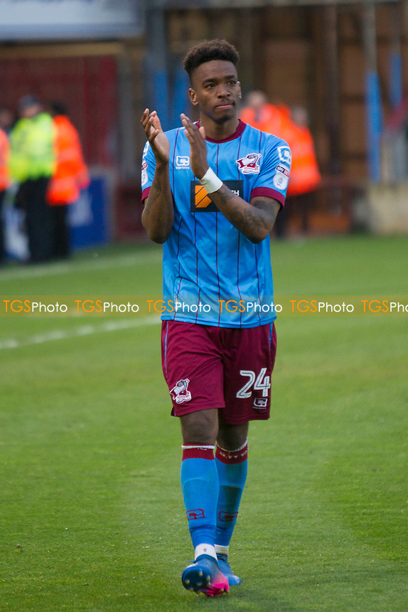 Bitterly disappointed Ivan Toney during Scunthorpe United vs Millwall, Sky Bet EFL League 1 Play-Off Football at Glanford Park on 7th May 2017
