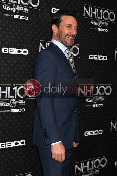 Jon Hamm<br /> at the The NHL100 Gala, Microsoft Theater, Los Angeles, CA 01-27-17<br /> David Edwards/DailyCeleb.com 818-249-4998