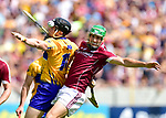 Tony Kelly of Clare in action against David Burke of Galway during their All-Ireland semi-final replay at Semple Stadium,Thurles. Photograph by John Kelly.