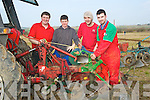 PLOUGH: Completing their repairs on their ploug before the Ardfert Ploughing competition on Sunday on Jim Healy's Land. L-r: MichaelP Donegan, Michael J Donegan, John Carroll and Colm Dineen (Causeway)................... . ............................... ..........