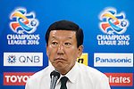 Jeonbuk Hyundai Motors FC (KOR) Head Coach Choi Kang-Hee attends a press conference after their AFC Champions League Quarter Finals match against Shanghai SIPG (CHN) at Jeonju World Cup Stadium on 13 September 2016, in Jeonju, South Korea. Photo by Victor Fraile / Power Sport Images