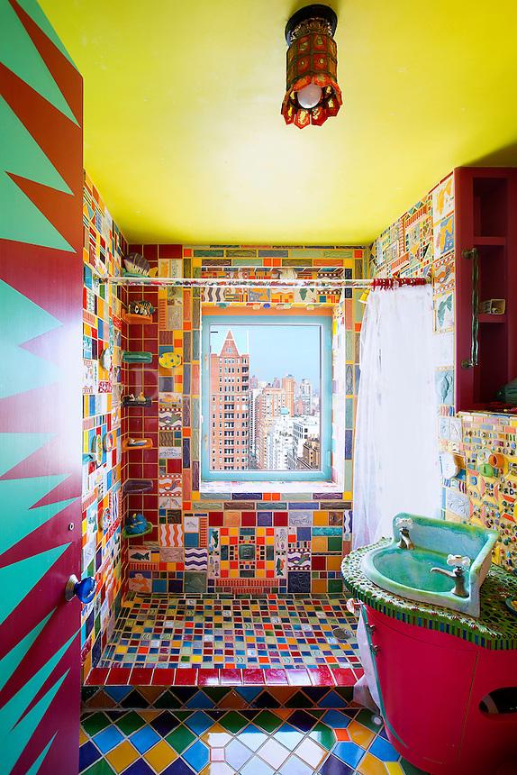 colorful bathroom tiles