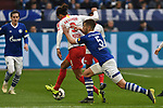 16.03.2019, VELTINS-Arena, Gelsenkirchen, GER, DFL, 1. BL, FC Schalke 04 vs RB Leipzig, DFL regulations prohibit any use of photographs as image sequences and/or quasi-video<br /> <br /> im Bild v. li. im Zweikampf Yussuf Poulsen (#9, RB Leipzig) Matija Nastasic (#5, FC Schalke 04)<br /> <br /> Foto © nph/Mauelshagen