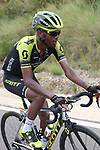 The breakaway including Tsgabu Gebremaryam Grmay (ETH) Mitchelton-Scott during Stage 6 of La Vuelta 2019 running 198.9km from Mora de Rubielos to Ares del Maestrat, Spain. 29th August 2019.<br /> Picture: Luis Angel Gomez/Photogomezsport | Cyclefile<br /> <br /> All photos usage must carry mandatory copyright credit (© Cyclefile | Luis Angel Gomez/Photogomezsport)