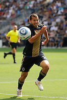 Alejandro Moreno (15) of the Philadelphia Union The Philadelphia Union and the New England Revolution  played to a 1-1 tie during a Major League Soccer (MLS) match at PPL Park in Chester, PA, on July 31, 2010.