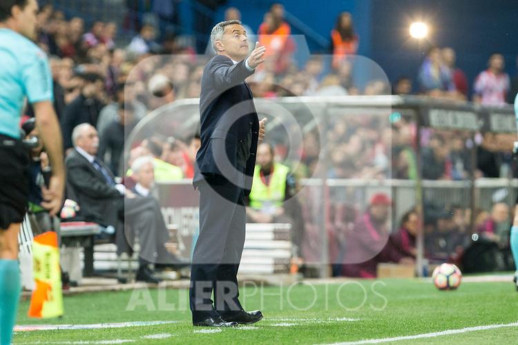 Fran Escriba of Villarreal during the match of La Liga between Atletico de Madrid and Villarreal at Vicente Calderon  Stadium  in Madrid, Spain. April 25, 2017. (ALTERPHOTOS/Rodrigo Jimenez)