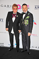 NEW YOKR, NY - NOVEMBER 7: Elton John and David Furnish at The Elton John AIDS Foundation's Annual Fall Gala at the Cathedral of St. John the Divine on November 7, 2017 in New York City. <br /> CAP/MPI/JP<br /> &copy;JP/MPI/Capital Pictures