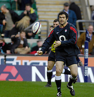 Twickenham, GREAT BRITAIN, Andy FARRELL, warms up before the game between, England vs Scotland, Calcutta Cup Rugby match played at the  RFU Twickenham Stadium on Sat 03.02.2007  [Photo, Peter Spurrier/Intersport-images].....