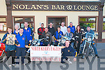 Charity Cycle : Pictured at the launch of Motor Cycle & Bikers poker run  in aiid of the North Kerry Eagles Special Olympics Athletics Club in Moyvane  on Thursday evening last were in front : Anna Mulvihill, Johnny Mulvihill & Step[hen Faley. Middle : Kitty Windle, Tom Windle, Cathal Gornmely, Kathleen Faley, Marti Flaherty, Eileen Lynch & John Nolam. Back : Dominick Hunt, Liam Nolan, Ger Dore & Michael Windle.....Press release sent in