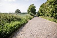 the Donderij cobbled section in Maarkedal<br /> <br /> cycling hotspots & impressions in the Vlaamse Ardennen (Flemish Ardennes) along the 181km Spartacus (Chasing Cancellara) cycling route<br /> <br /> Cycling In Flanders <br /> Flanders Tourist Board<br /> <br /> ©kramon