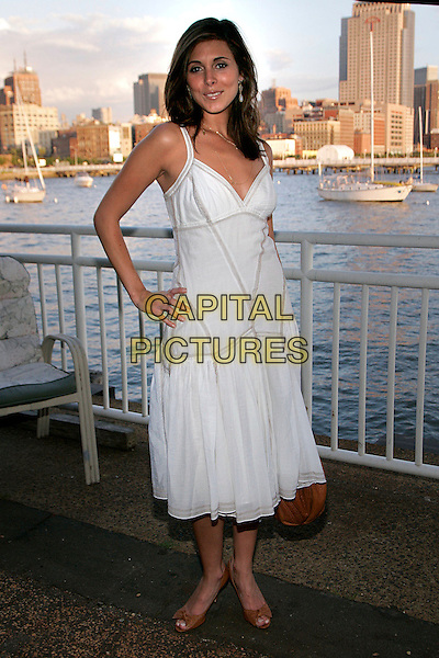 JAMIE-LYNN SIGLER.At Armani Exchange and Nylon Magazine Summer in Style celebration, New York, NY, USA..June 15th, 2006.Photo: Jackson Lee/AdMedia/Capital Pictures.Ref: JL/ADM.full length white dress hand on hip Jaime Lynn Jamie.www.capitalpictures.com.sales@capitalpictures.com.© Capital Pictures.