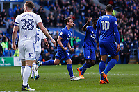 Craig Bryson of Cardiff City celebrates scoring his sides second goal of the match during the Sky Bet Championship match between Cardiff City and Birmingham City at the Cardiff City Stadium, Wales, UK. Saturday 10 March 2018
