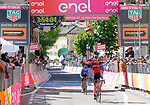 Tejay Van Garderen (USA) BMC Racing Team wins Stage 18 of the 100th edition of the Giro d'Italia 2017, running 137km from Moena to Ortisei/St. Ulrich, Italy. 25th May 2017.<br /> Picture: LaPresse/Simone Spada | Cyclefile<br /> <br /> <br /> All photos usage must carry mandatory copyright credit (&copy; Cyclefile | LaPresse/Simone Spada)