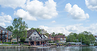 Maidenhead. Berkshire. United Kingdom. General View of the 2017 Maidenhead Junior Regatta, centred round Maidenhead RC Boathouse with a view of part of the &quot;Sounding Arch Bridge.  River Thames. <br /> Sunday  14/05/2017<br /> <br /> [Mandatory Credit Peter SPURRIER/Intersport Images] Sunday. 14.05.2017