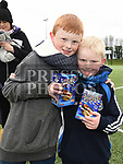 Brendan and Jack Heffernan at the East Meath United Easter Egg Hunt. Photo:Colin Bell/pressphotos.ie