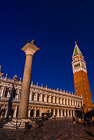 Campanile (bell tower), Piazza San Marco, Venice, Italy.