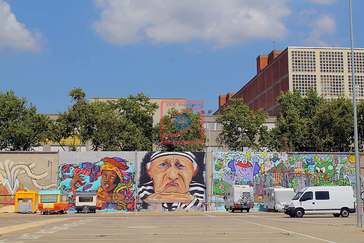 Street Art-Graffittis.<br /> Barcelona, La Pau.