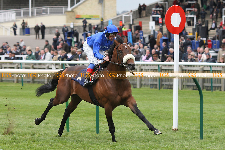 Race winner Mariner's Cross ridden by Frankie Dettori on the way to victory in the Swan At Lavenham Wood Ditton Stakes - The Craven Meeting at Newmarket Racecourse, Suffolk - 19/04/12 - MANDATORY CREDIT: Gavin Ellis/TGSPHOTO - Self billing applies where appropriate - 0845 094 6026 - contact@tgsphoto.co.uk - NO UNPAID USE.