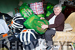 Betty Crosbie preparing the clothes that was collected and sent to Chernobyl on Monday